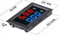 Цифровой вольтметр-амперметр 100V/10A встраиваемый